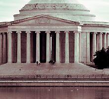 Jefferson Reflections, Washington, D.C. by strangelight