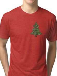 Christmas tree  - OneMandalaADay Tri-blend T-Shirt