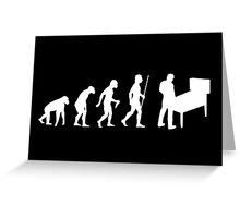 Funny Pinball Evolution T Shirt Greeting Card
