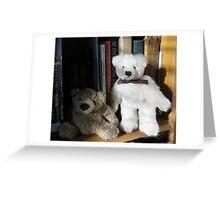 BOOKS AND BEARS Greeting Card