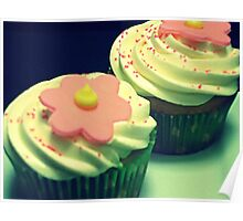 Spring Cupcakes - Flower Power Poster
