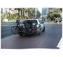 Cop Car with Cycle Rack Poster