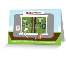 Monkey Business Greeting Card