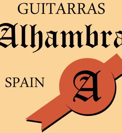 Guitarras Alhambra Spain Sticker