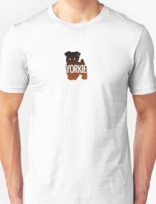 Yorkie Black and Tan Unisex T-Shirt