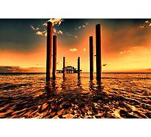Brighton west Pier sunset Photographic Print
