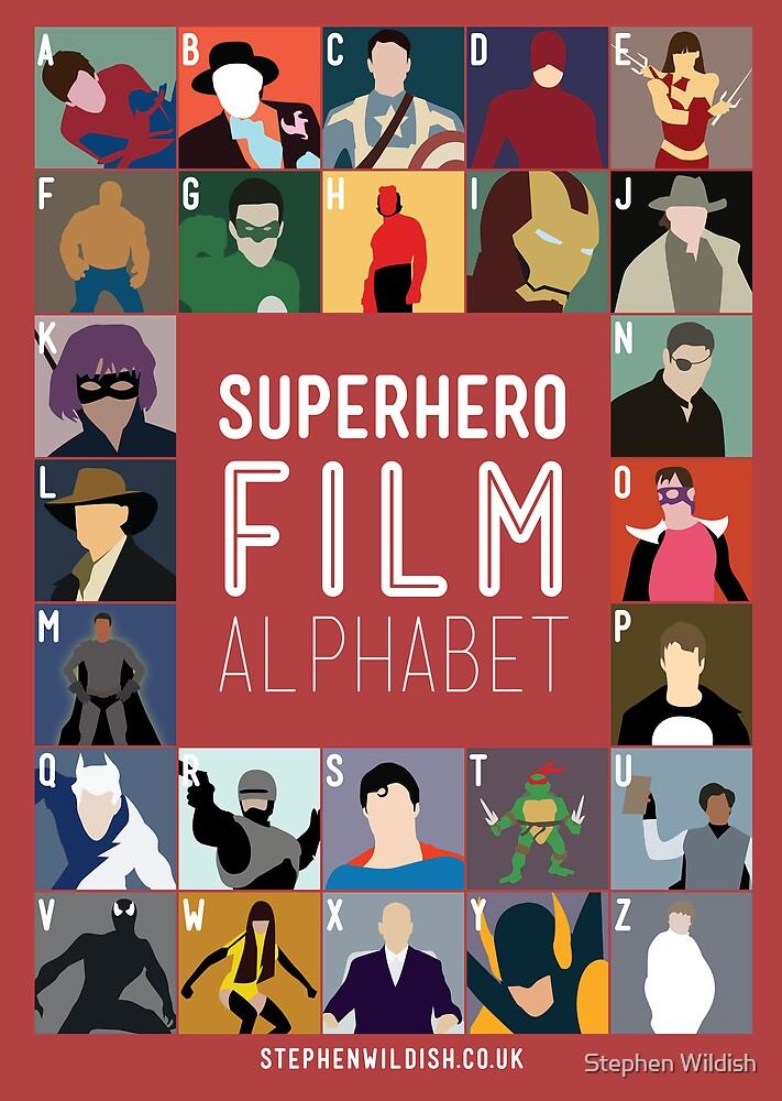 Superhero Film Alphabet by Stephen Wildish