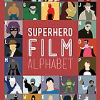 Superhero Film Alphabet by Stephen Wildish