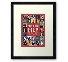 Superhero Film Alphabet Framed Print