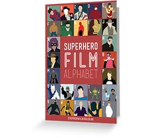 Superhero Film Alphabet Greeting Card