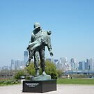 """""""Liberation"""", Monument to World War 2 Concentration Camp Survivors, Lower Manhattan in Backround, Liberty State Park, New Jersey by lenspiro"""