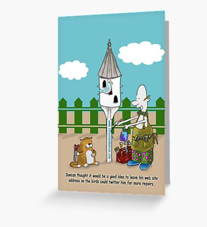 Twitter Me Greeting Card