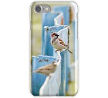 Birds On The Fence iPhone Case/Skin