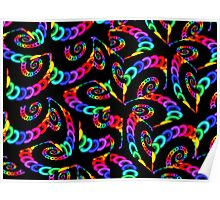 Colorful Cubic Chains Poster
