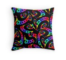 Colorful Cubic Chains Throw Pillow