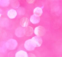 Pink Glitter Abstract Bokeh Blur by Andrea Hurley
