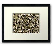 Golden Chain Link Framed Print