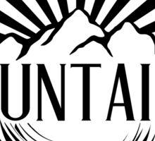 I Climb Mountains To Get High. Sticker