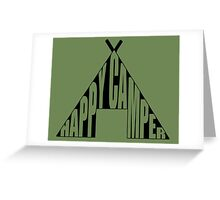 Happy Camper. Greeting Card