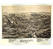 Panoramic Maps Moscow Lackawanna County Penn'a 1891 Poster
