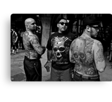 body and tattoos Canvas Print