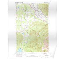 USGS Topo Map Washington State WA Lawrence 241957 1952 24000 Poster