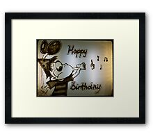Happy Crazy Birthday Framed Print