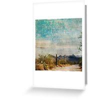Saguaro West textured Greeting Card