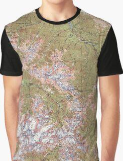 USGS Topo Map Washington State WA Mount Olympus 242514 1942 62500 Graphic T-Shirt