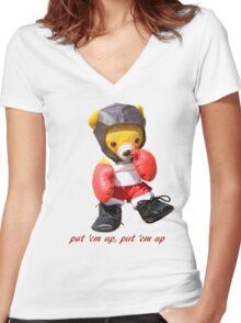 Put 'em up Women's Fitted V-Neck T-Shirt