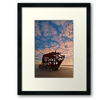 Leopard Clouds Framed Print