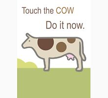 Touch the Cow. Women's Fitted Scoop T-Shirt