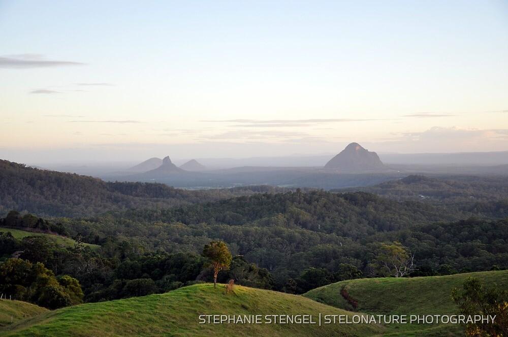 Glasshouse Mountains by STEPHANIE STENGEL   STELONATURE PHOTOGRAHY