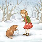 Lucy meets Mr Beaver by amalou