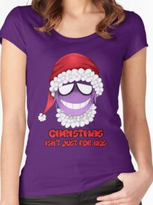 Purple guy - Christmas isn't just for kids Women's Fitted Scoop T-Shirt