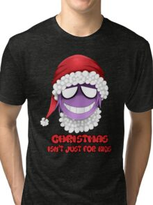 Purple guy - Christmas isn't just for kids Tri-blend T-Shirt