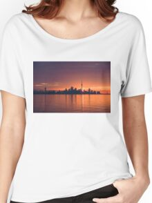 Bright and Orange Toronto Sunrise Women's Relaxed Fit T-Shirt