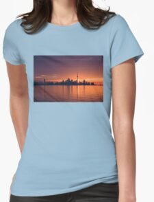 Bright and Orange Toronto Sunrise Womens Fitted T-Shirt