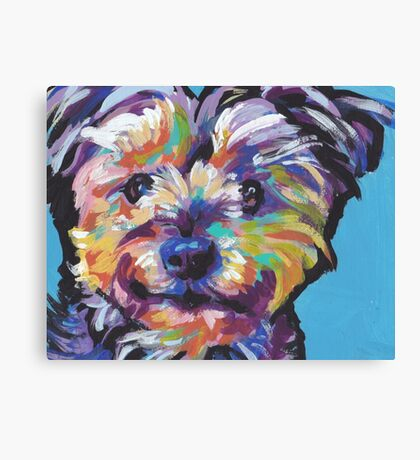 Yorkie Yorkshire Terrier Bright colorful pop dog art Canvas Print