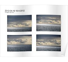 Clouds over the Blue  Ocean Poster