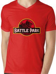 Batle Park Mens V-Neck T-Shirt