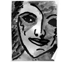 An Impressionistic portrait, watercolor Poster