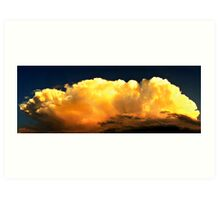 Panoramic View Of Incoming Thunderhead Art Print