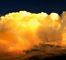 Panoramic View Of Incoming Thunderhead by Vince Scaglione