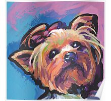 Yorkie Yorkshire Terrier Bright colorful pop dog art Poster