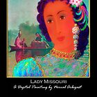 'Lady Missouri', Titled Greeting Card or Small Print by luvapples downunder/ Norval Arbogast