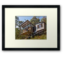Mountain Eco-cottage, Bright, Victoria. Framed Print