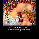 'Mother And Child' Titled Greeting Card or Small Print by luvapples downunder/ Norval Arbogast