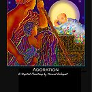 'Adoration', Titled Greeting Card or Small Print by luvapples downunder/ Norval Arbogast
