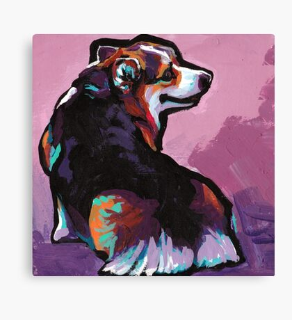 Pembroke Welsh Corgi Dog Bright colorful pop dog art Canvas Print